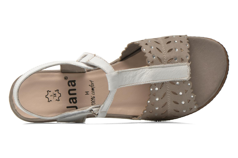 Sandalias Jana shoes Linka Gris vista lateral izquierda