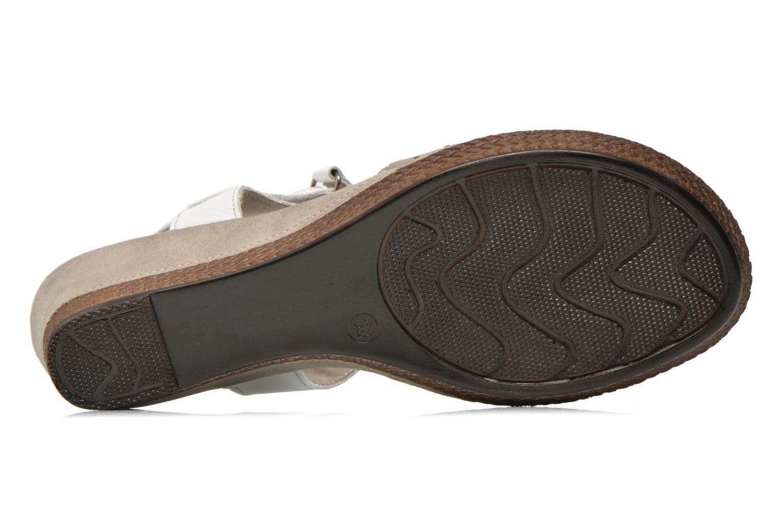 Sandalias Jana shoes Linka Gris vista de arriba