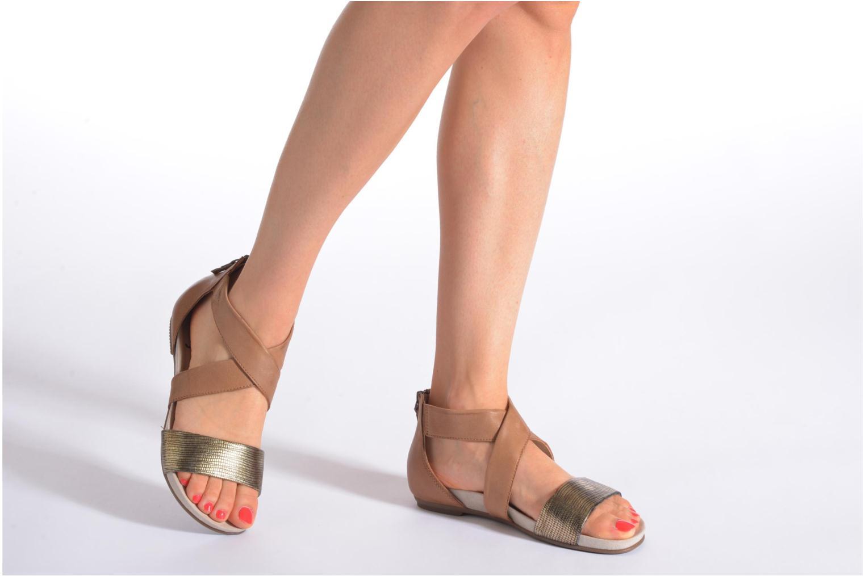 Sandales et nu-pieds Jana shoes Zena Marron vue bas / vue portée sac