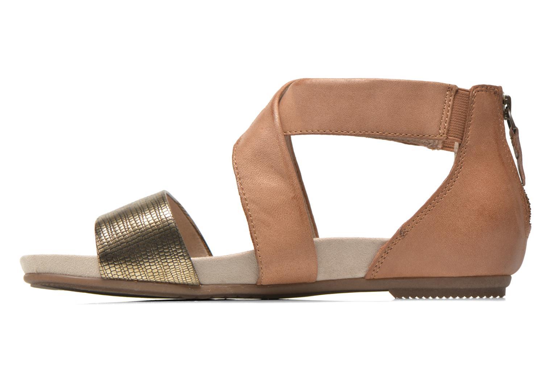 Sandales et nu-pieds Jana shoes Zena Marron vue face