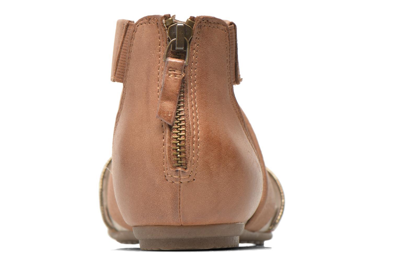 Sandales et nu-pieds Jana shoes Zena Marron vue droite