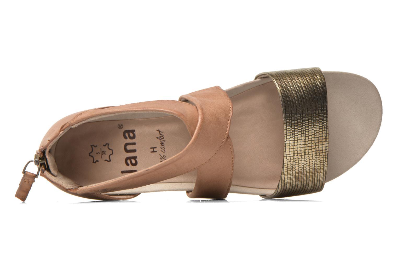 Sandales et nu-pieds Jana shoes Zena Marron vue gauche