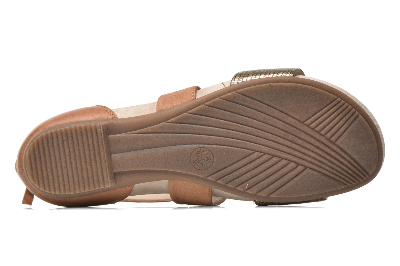 Sandales et nu-pieds Jana shoes Zena Marron vue haut