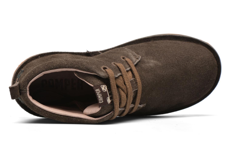 Chaussures à lacets Camper Beetle Street Kids Marron vue gauche