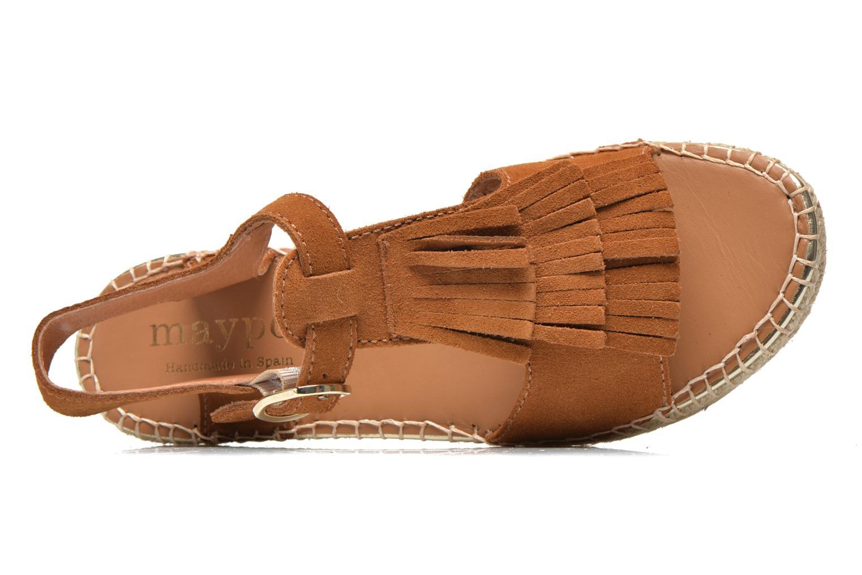 Sandales et nu-pieds Maypol Mohica Marron vue gauche