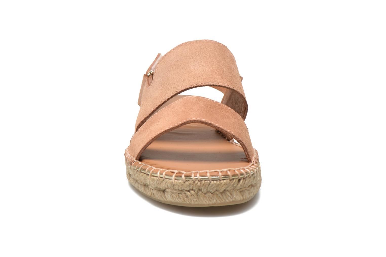 Sandales et nu-pieds Maypol Moss Beige vue portées chaussures