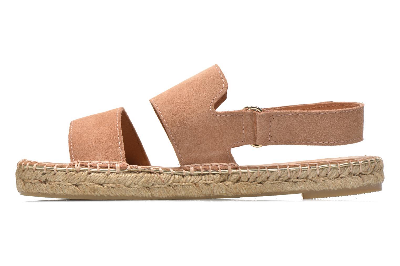 Sandales et nu-pieds Maypol Moss Beige vue face