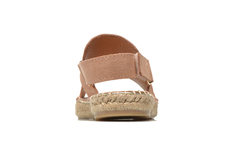 Sandales et nu-pieds Maypol Moss Beige vue droite