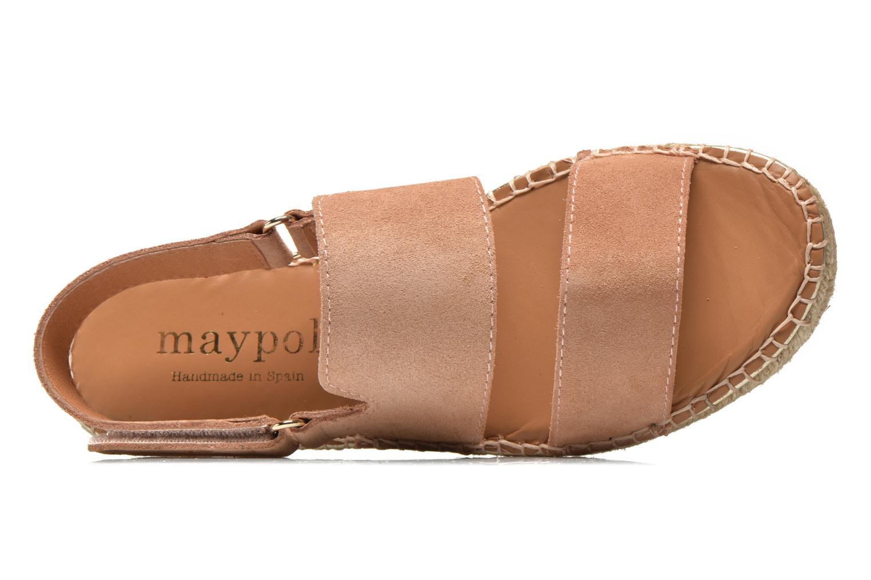 Sandales et nu-pieds Maypol Moss Beige vue gauche