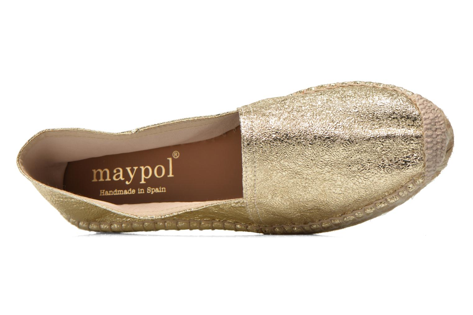 Espadrilles Maypol Samba Bronze and Gold view from the left