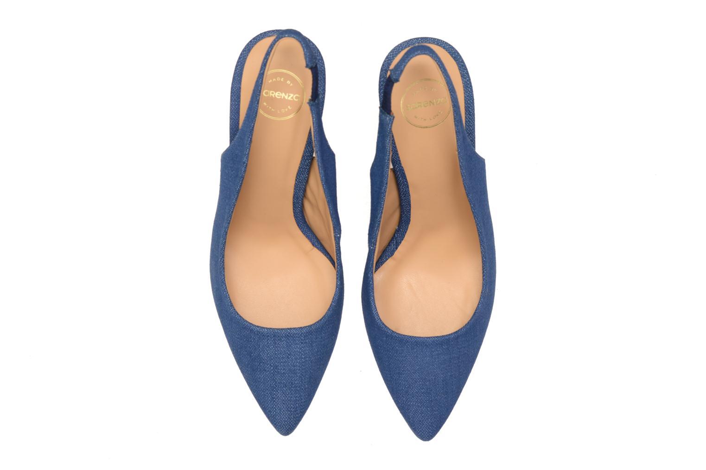 Escarpins Made by SARENZA Glaçons citrons #1 Bleu vue portées chaussures
