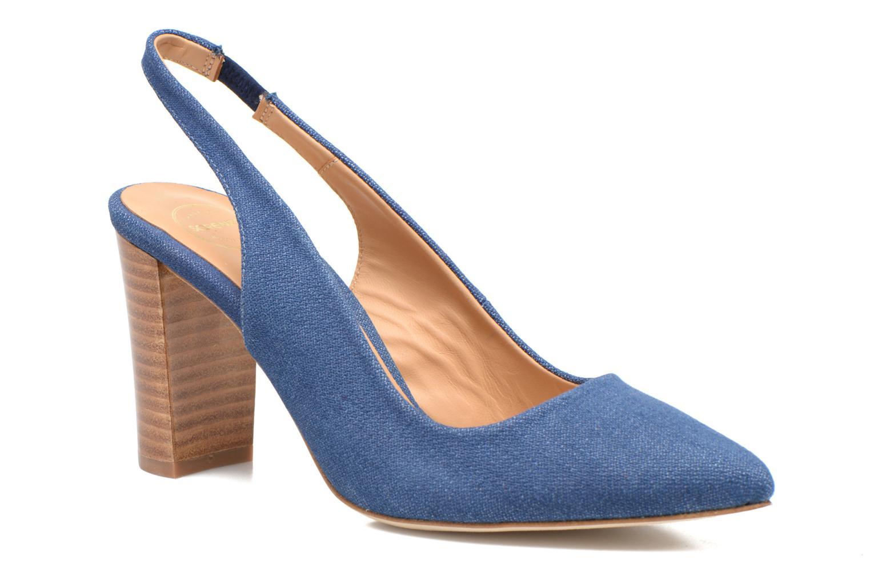 Escarpins Made by SARENZA Glaçons citrons #1 Bleu vue droite