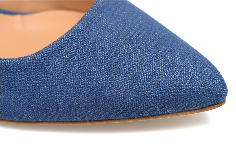 Escarpins Made by SARENZA Glaçons citrons #1 Bleu vue gauche