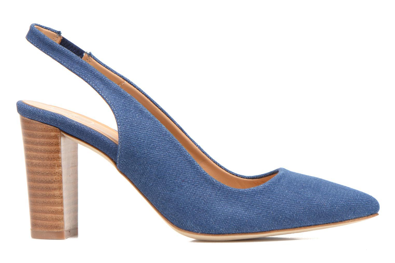 Escarpins Made by SARENZA Glaçons citrons #1 Bleu vue détail/paire