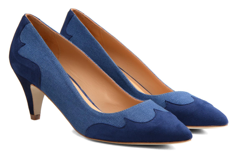 Escarpins Made by SARENZA Western Fever #2 Bleu vue derrière