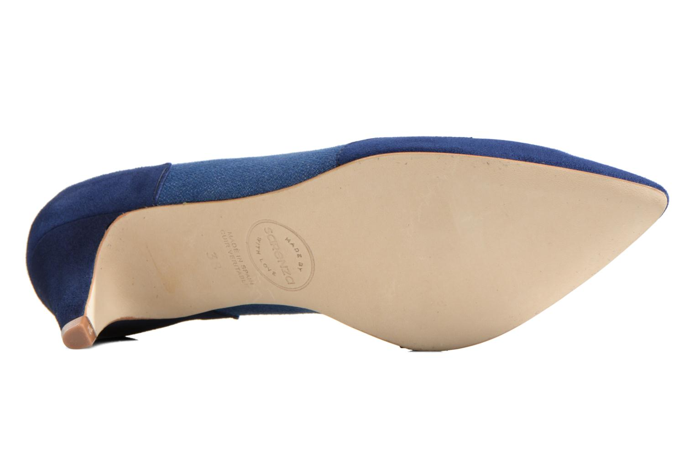 Escarpins Made by SARENZA Western Fever #2 Bleu vue haut