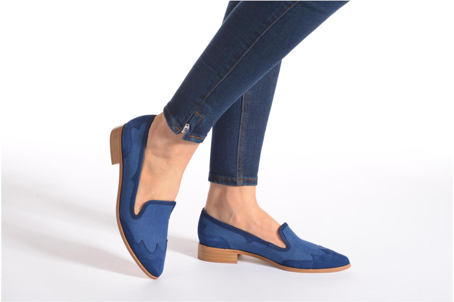 Loafers Made by SARENZA Seven Tease #1 Blue view from underneath / model view
