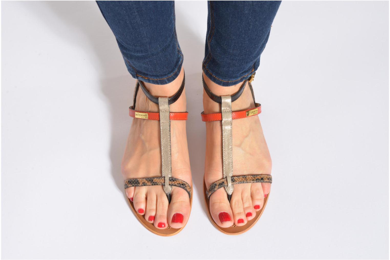 Sandales et nu-pieds Les Tropéziennes par M Belarbi Baie Multicolore vue bas / vue portée sac