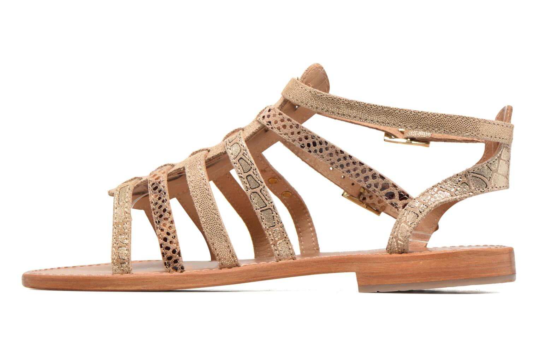 Sandals Les Tropéziennes par M Belarbi Baille Bronze and Gold front view