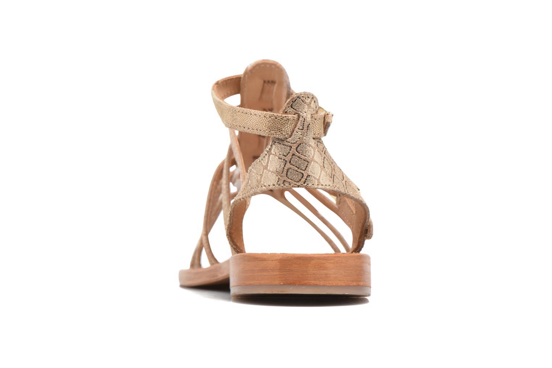 Sandalias Les Tropéziennes par M Belarbi Baille Oro y bronce vista lateral derecha