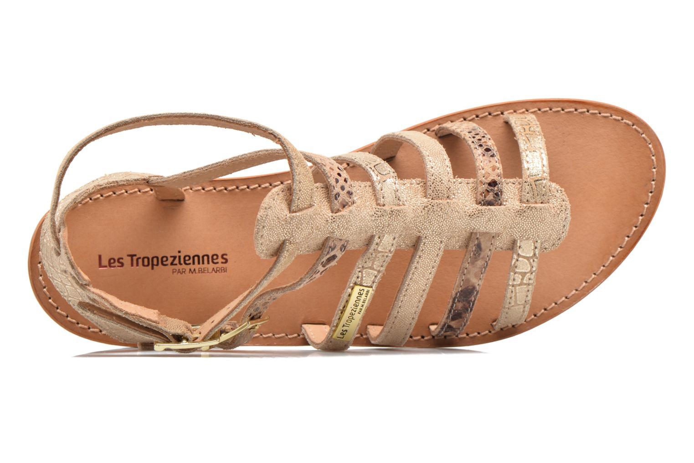 Sandalias Les Tropéziennes par M Belarbi Baille Oro y bronce vista lateral izquierda