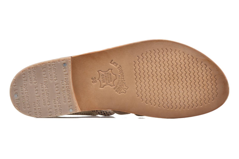 Sandals Les Tropéziennes par M Belarbi Baille Bronze and Gold view from above