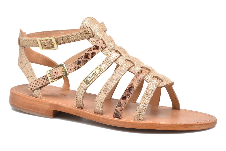 Sandaler Les Tropéziennes par M Belarbi Baille Bronze och Guld detaljerad bild på paret