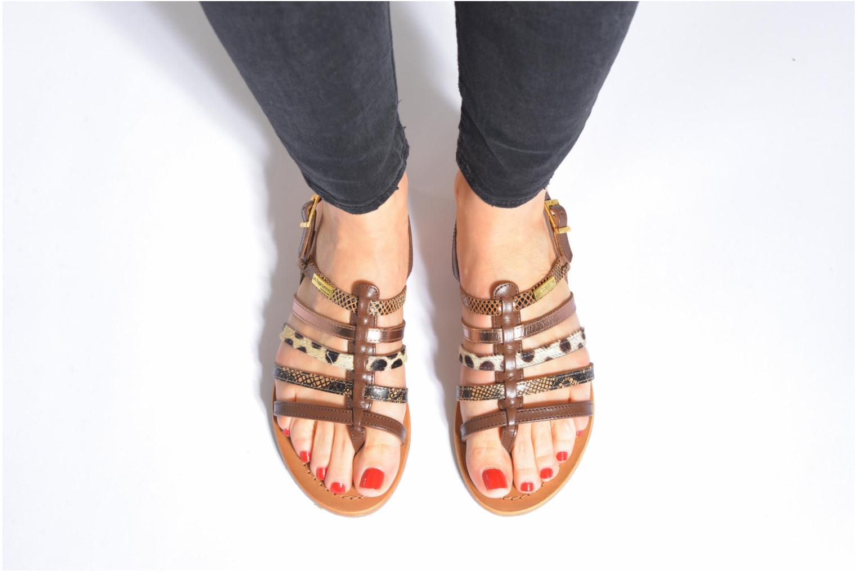Sandales et nu-pieds Les Tropéziennes par M Belarbi Belinda Marron vue bas / vue portée sac