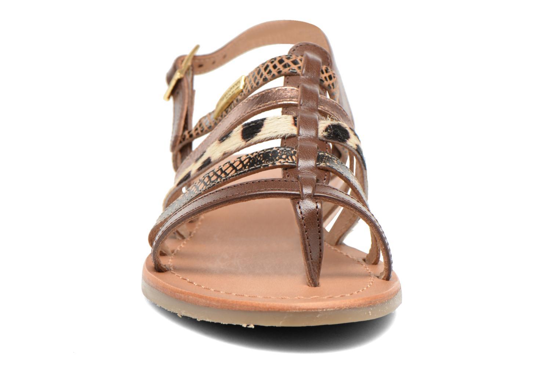 Sandales et nu-pieds Les Tropéziennes par M Belarbi Belinda Marron vue portées chaussures