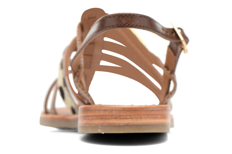 Sandales et nu-pieds Les Tropéziennes par M Belarbi Belinda Marron vue droite