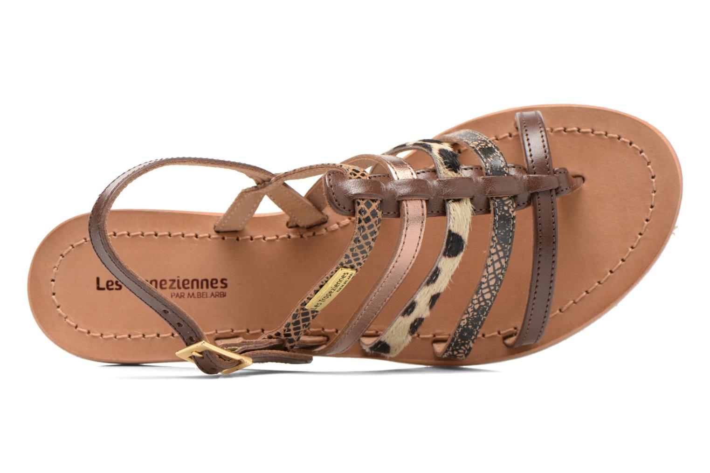 Sandales et nu-pieds Les Tropéziennes par M Belarbi Belinda Marron vue gauche
