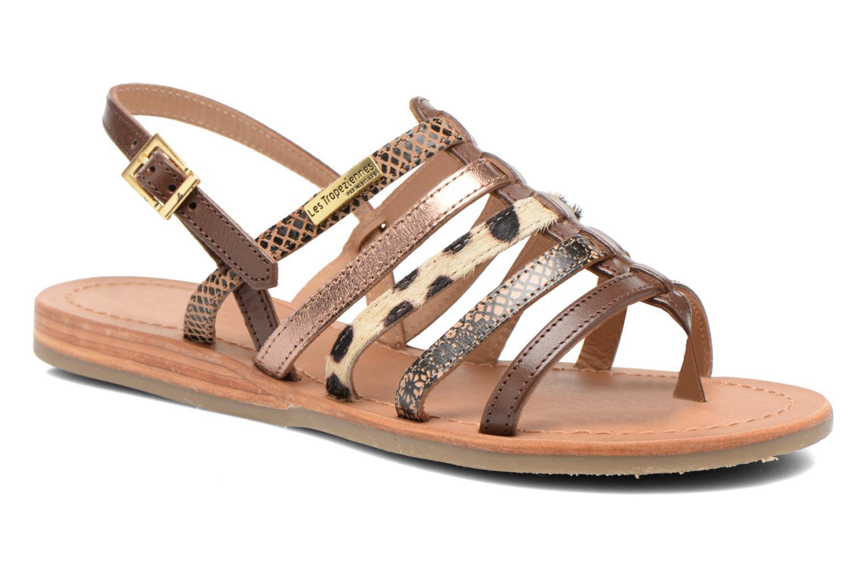 Sandales et nu-pieds Les Tropéziennes par M Belarbi Belinda Marron vue détail/paire