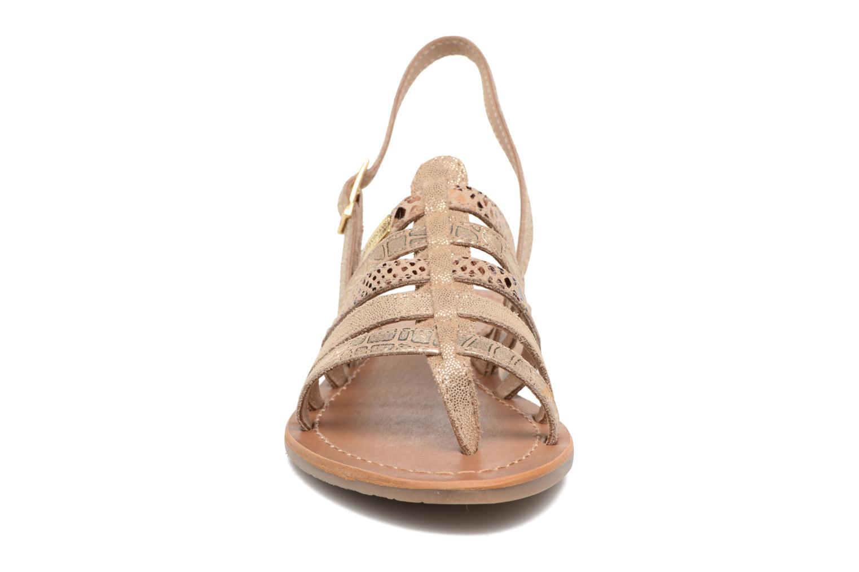Sandali e scarpe aperte Les Tropéziennes par M Belarbi Belinda Oro e bronzo modello indossato