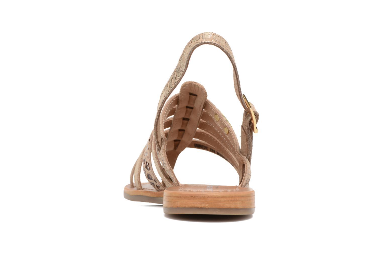 Sandali e scarpe aperte Les Tropéziennes par M Belarbi Belinda Oro e bronzo immagine destra