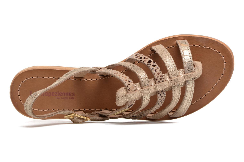 Sandales et nu-pieds Les Tropéziennes par M Belarbi Belinda Or et bronze vue gauche