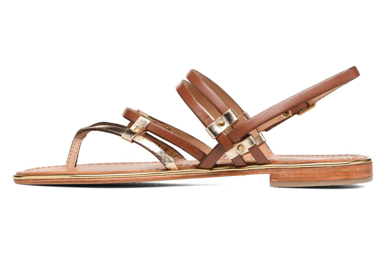 Sandales et nu-pieds Les Tropéziennes par M Belarbi Cumin Marron vue face