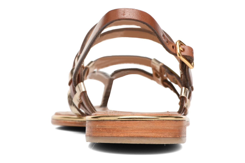 Sandales et nu-pieds Les Tropéziennes par M Belarbi Cumin Marron vue droite
