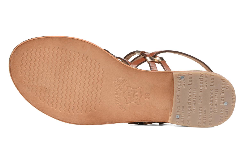 Sandales et nu-pieds Les Tropéziennes par M Belarbi Cumin Marron vue haut