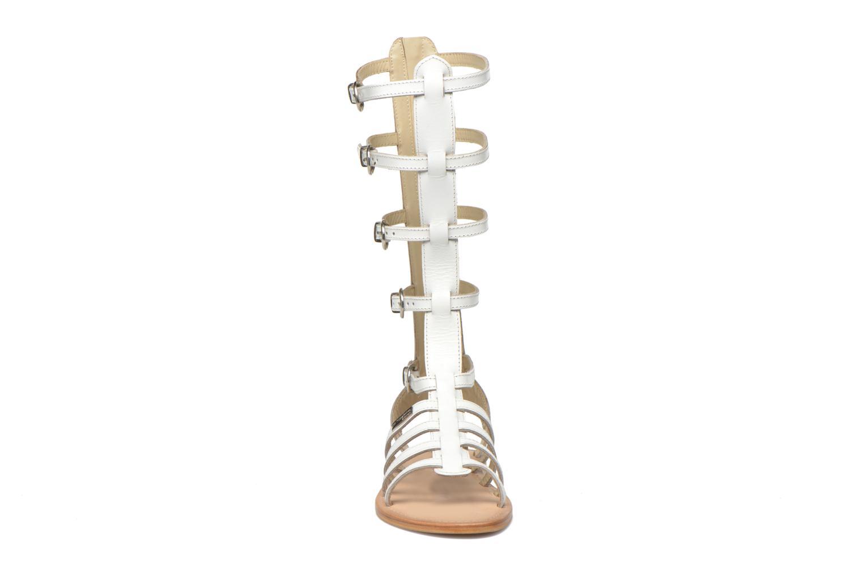 Sandales et nu-pieds Les Tropéziennes par M Belarbi Nay Blanc vue portées chaussures