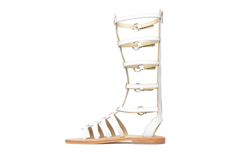 Sandales et nu-pieds Les Tropéziennes par M Belarbi Nay Blanc vue face