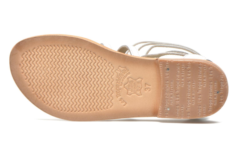 Sandales et nu-pieds Les Tropéziennes par M Belarbi Nay Blanc vue haut