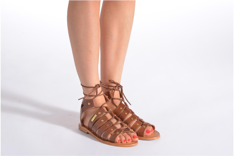 Sandals Les Tropéziennes par M Belarbi Marilyn Brown view from underneath / model view