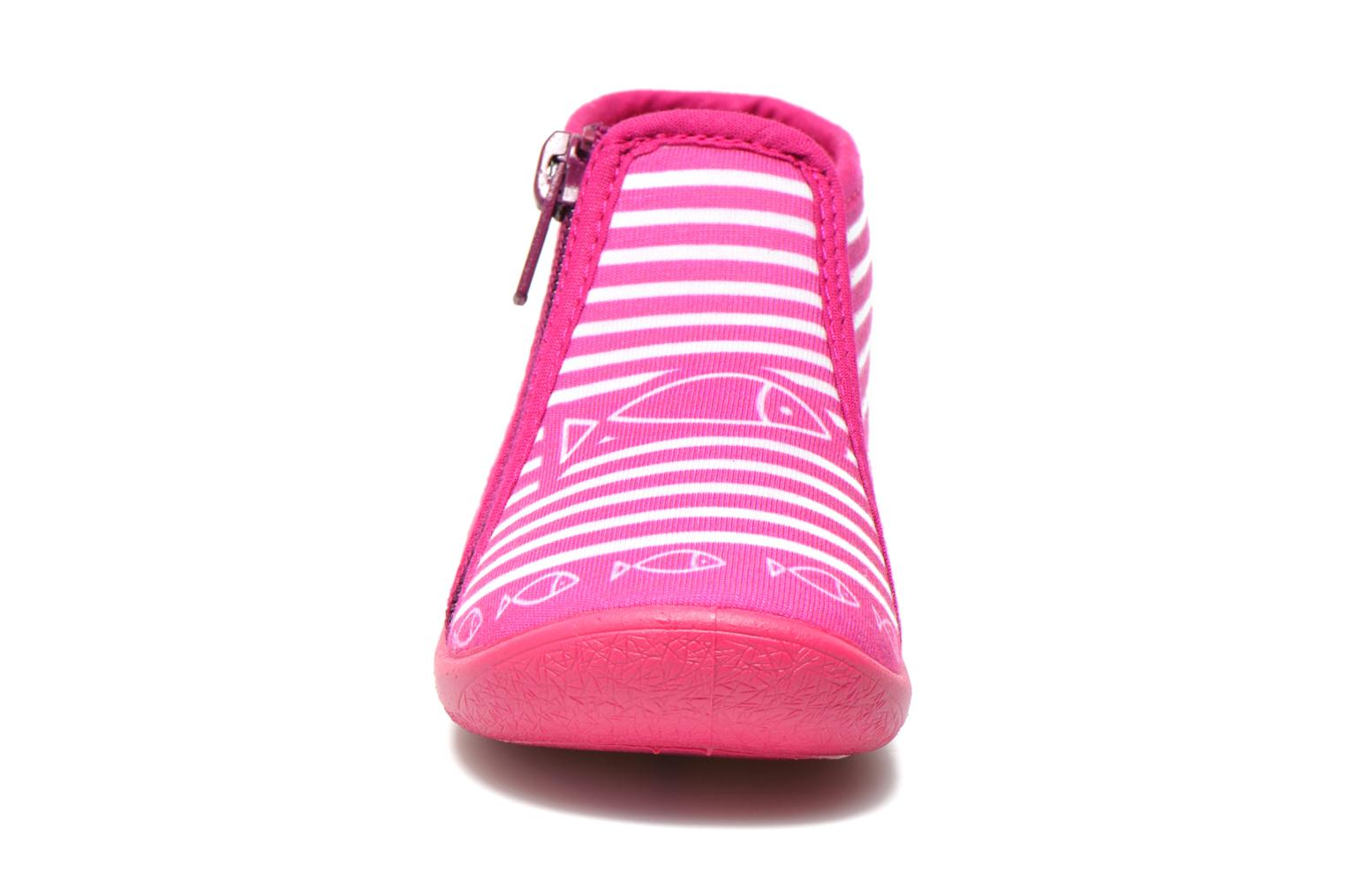 Chaussons Be Only Botillon Zip Timouss Rose vue portées chaussures