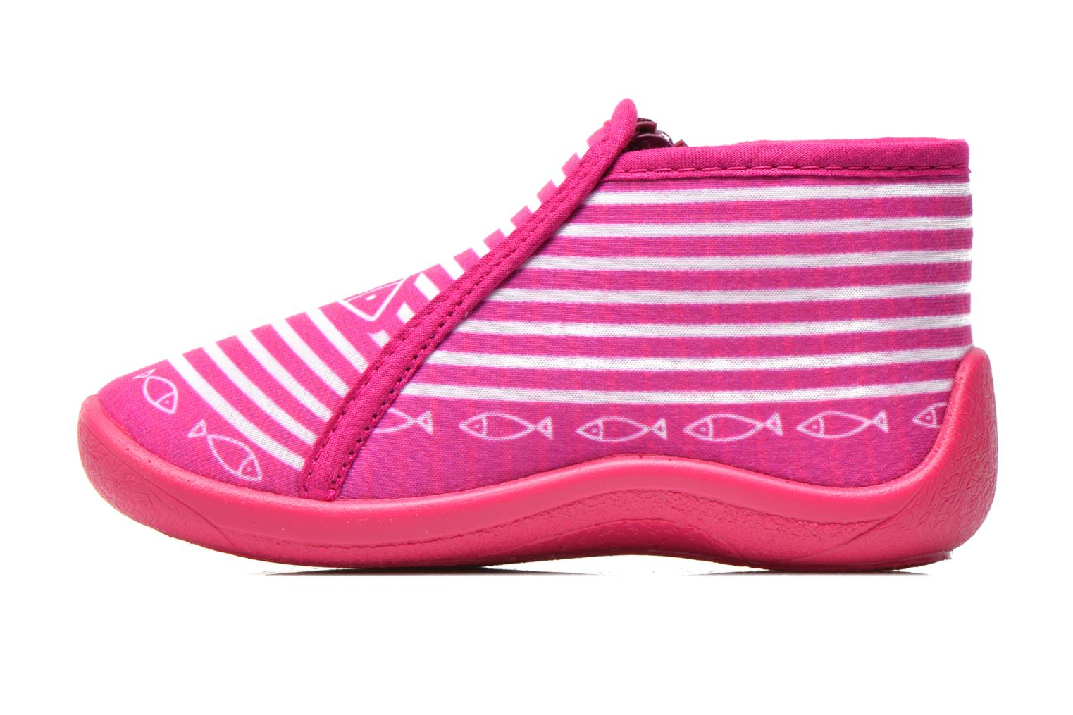 Chaussons Be Only Botillon Zip Timouss Rose vue face