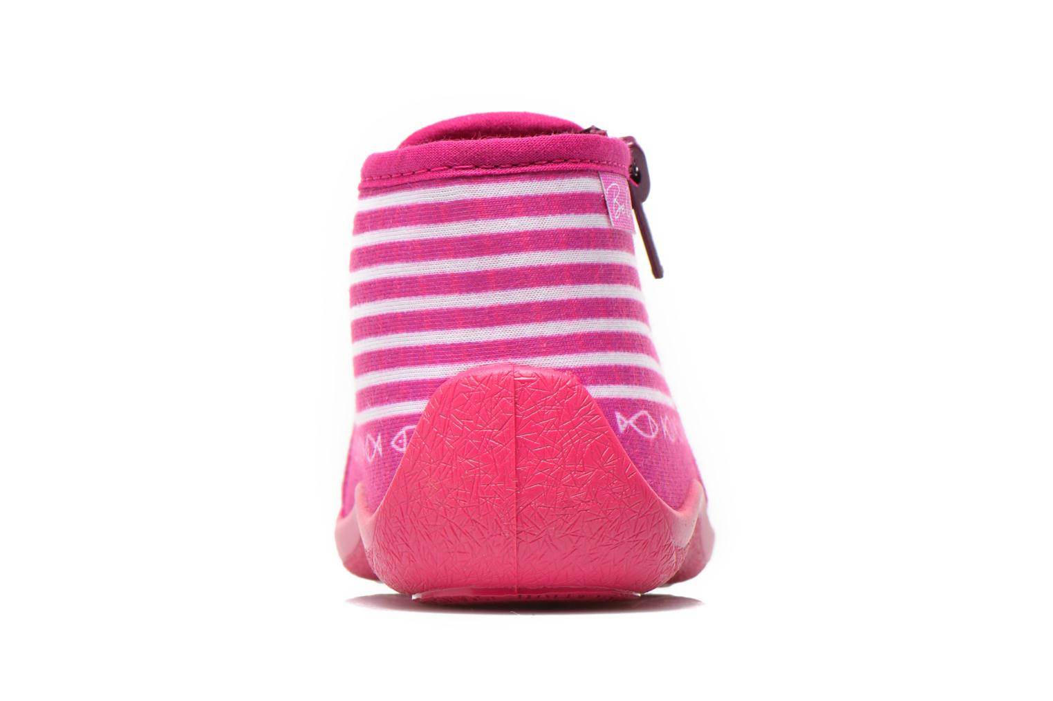 Chaussons Be Only Botillon Zip Timouss Rose vue droite