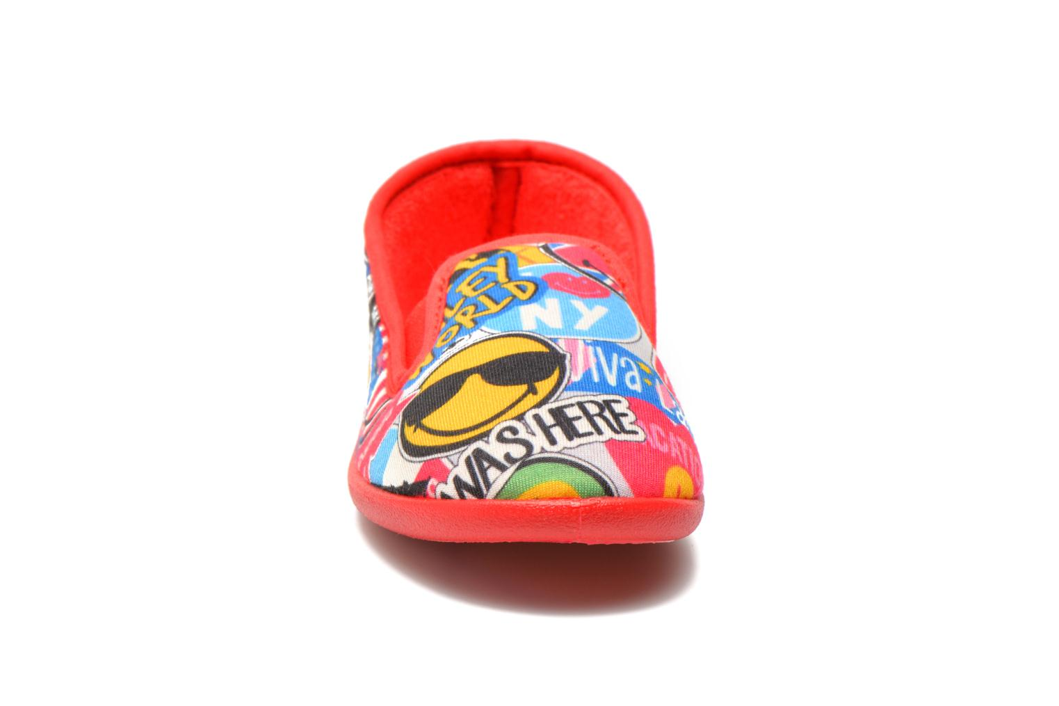 Chaussons Be Only Sans Gene Smiley Travel Multicolore vue portées chaussures