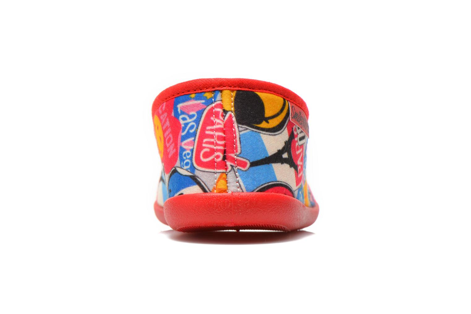 Chaussons Be Only Sans Gene Smiley Travel Multicolore vue droite