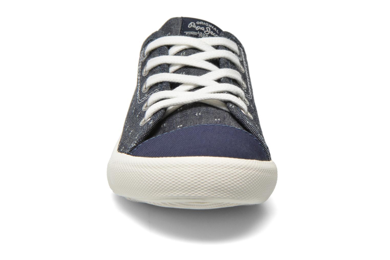 Baskets Pepe jeans Britt Fabric K Bleu vue portées chaussures