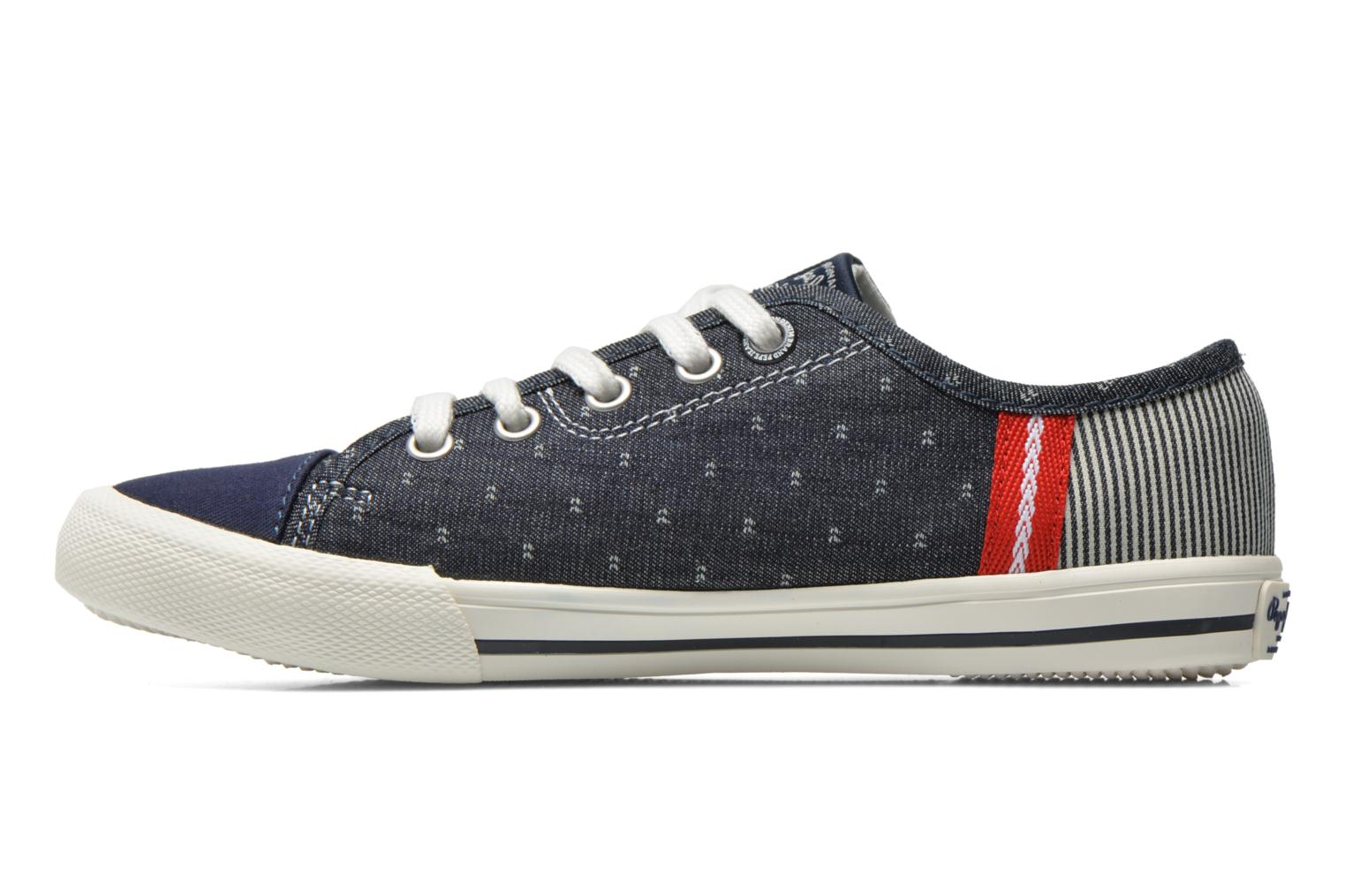 Trainers Pepe jeans Britt Fabric K Blue front view