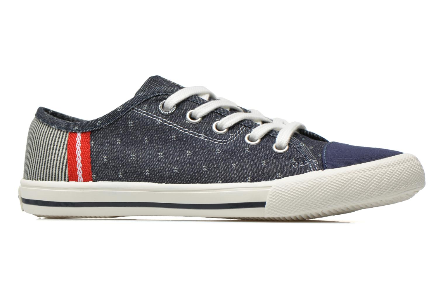 Trainers Pepe jeans Britt Fabric K Blue back view